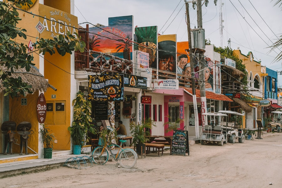 Downtown streets of Isla Holbox
