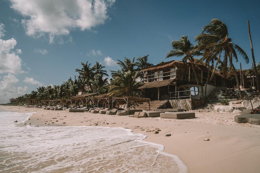 Beach club at Papaya Playa Project