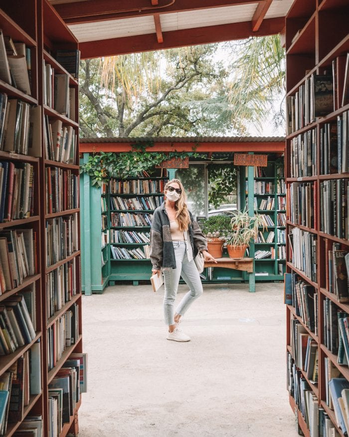Michelle Halpern shopping at Bart's Books