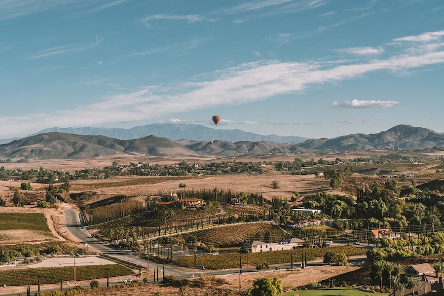 Hot air balloon over Temecula
