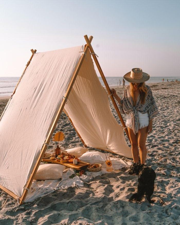 Michelle Halpern on beach in Encinitas