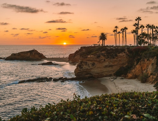 Sunset in Laguna Beach - Weekend Getaways from Los Angeles
