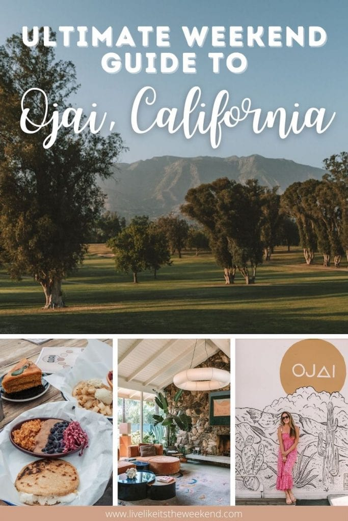 Pin cover for Ojai weekend guide