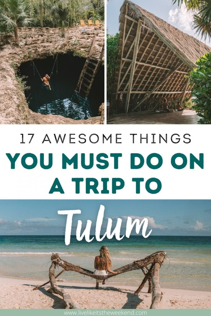 Best things to do in Tulum pinterest cover