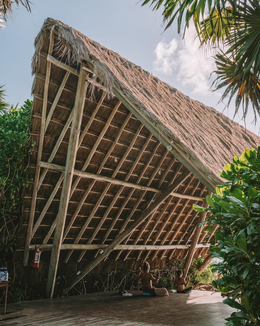 Yoga hut right on the beach