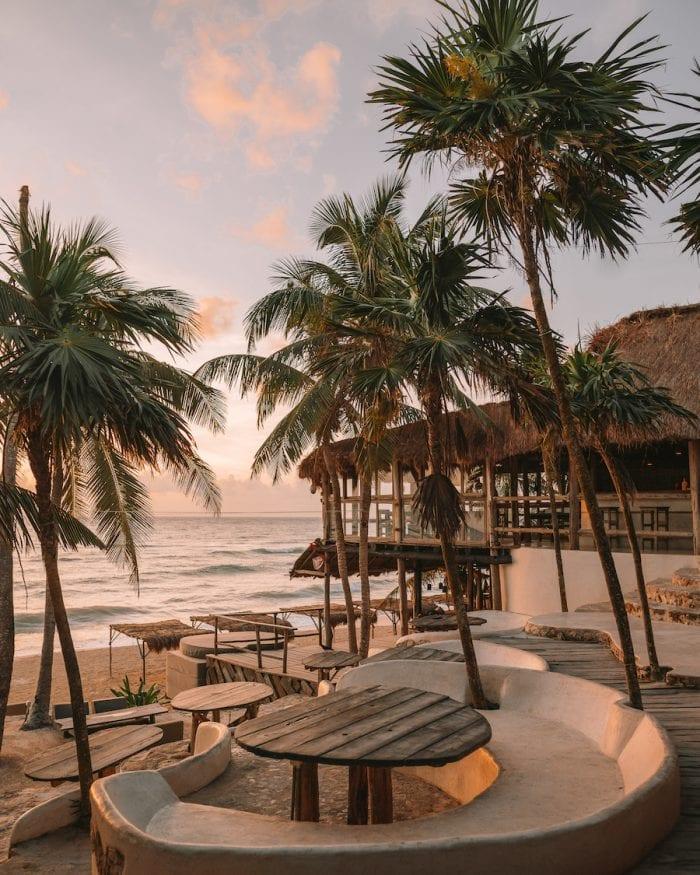 Beachside deck at Papaya Playa Project