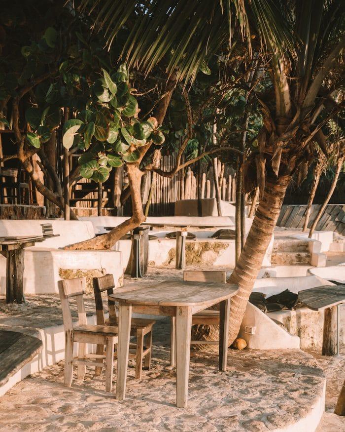Dining area at Papaya Playa Project