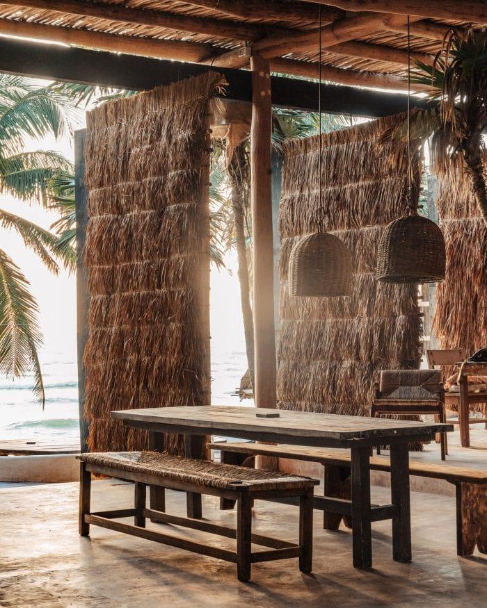 Breakfast dining area at Papaya Playa Project