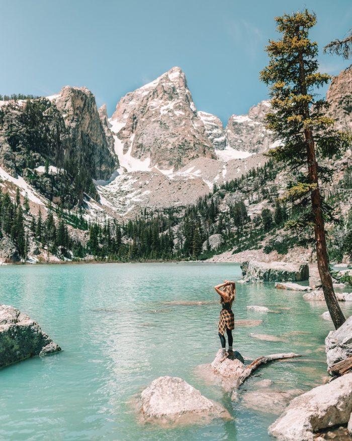 Delta Lake at Grand Teton National Park