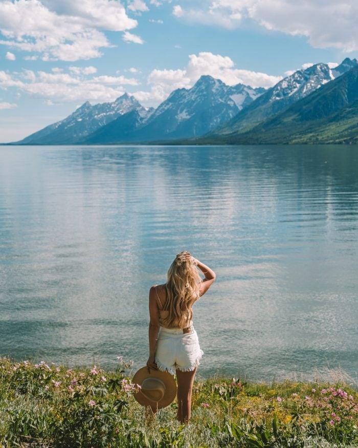 Views overlooking Jackson Lake in Grand Teton National Park