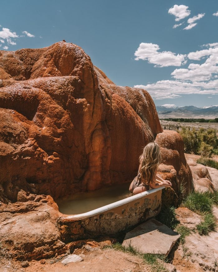 Mystic Hot Springs - Salt Lake City to Yellowstone Road Trip