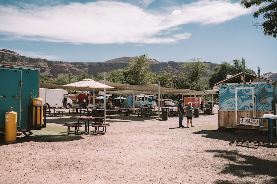 Food truck park in Moab