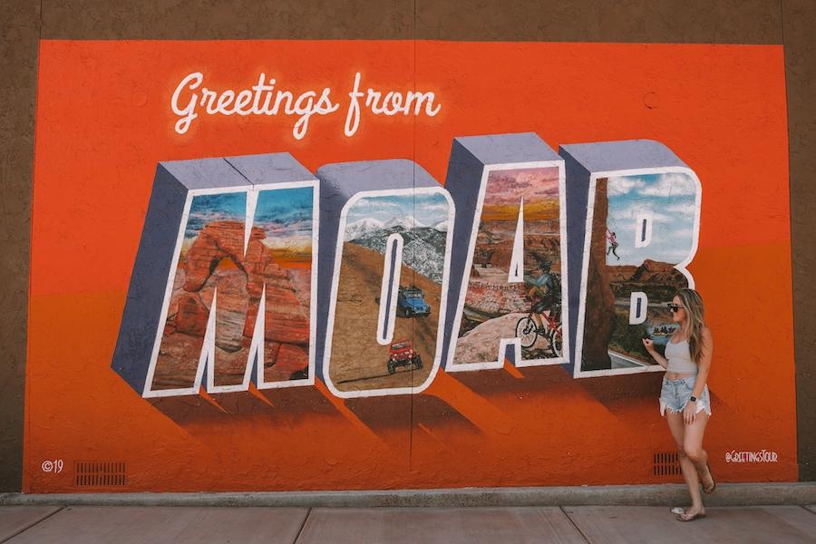 Moab scene in Utah - Salt Lake City to Yellowstone Road Trip