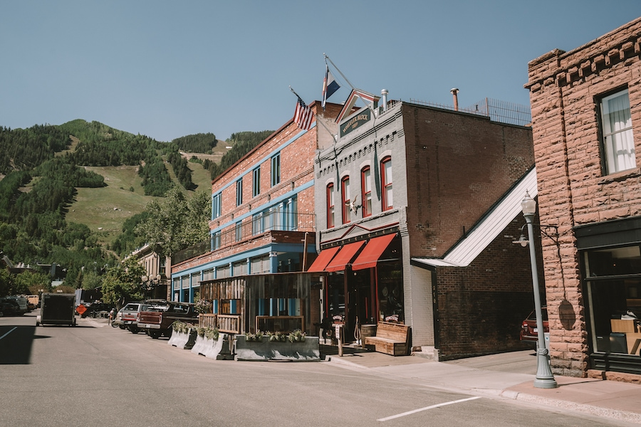 Downtown storefronts in Aspen