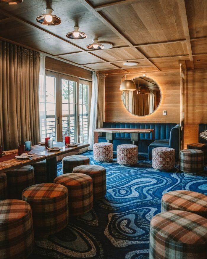 Restaurant interior inside W Hotel