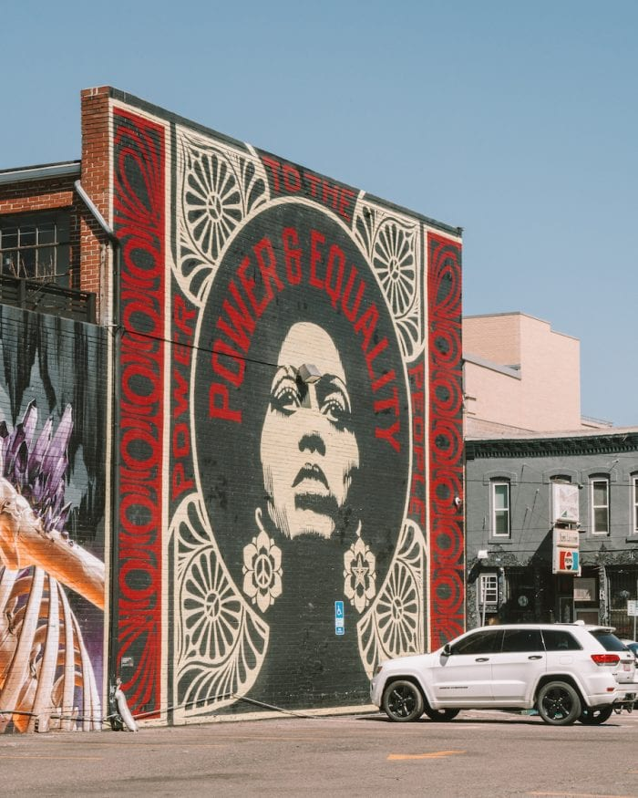 Murals in RINO district, Denver