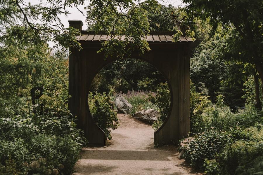 Japanese archway at the Denver Botanical Garden