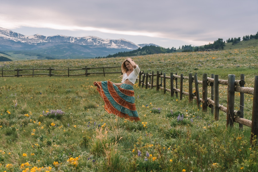 Michelle Halpern in the Big Horn National Forest