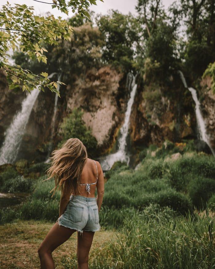 3 waterfalls at Rifle Falls State Park