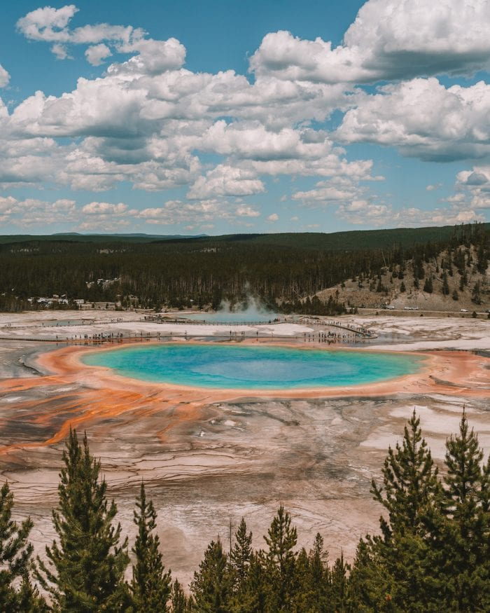 Grand Prismatic Spring view from the overlook in Yellowstone