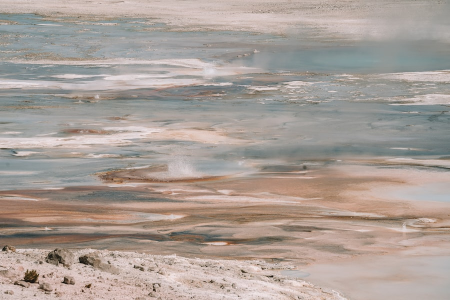 Colorful textures at Norris Geyser Basin