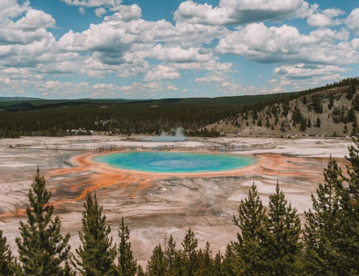 View of Grand Prismatic Spring from the overlook