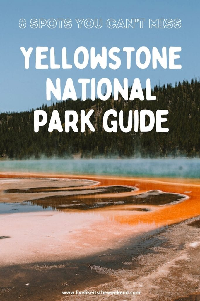 Pin cover for Yellowstone national parks guide