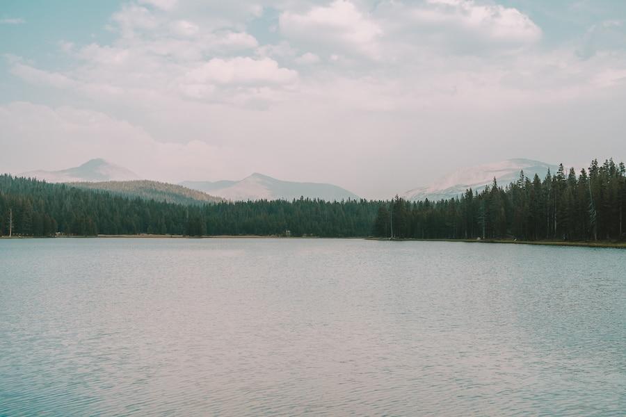 Dog Lake along Tioga Road in Yosemite National Park