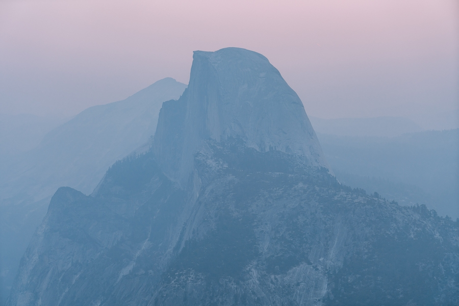 Things to do in Yosemite National Park- Glacier Point at sunset