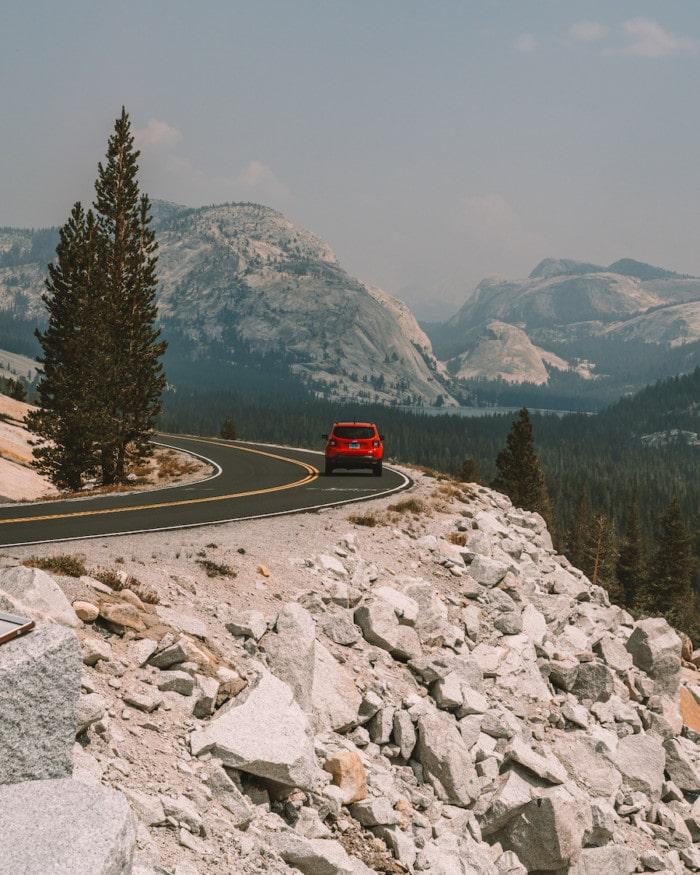 Driving the Tioga Road in Yosemite