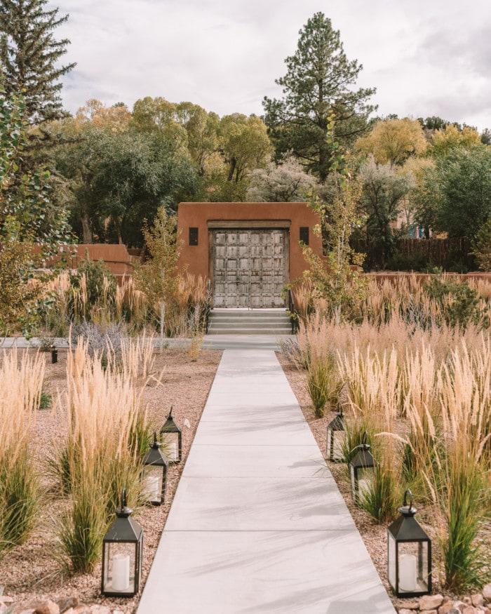 Entryway gate at Bishop's Lodge