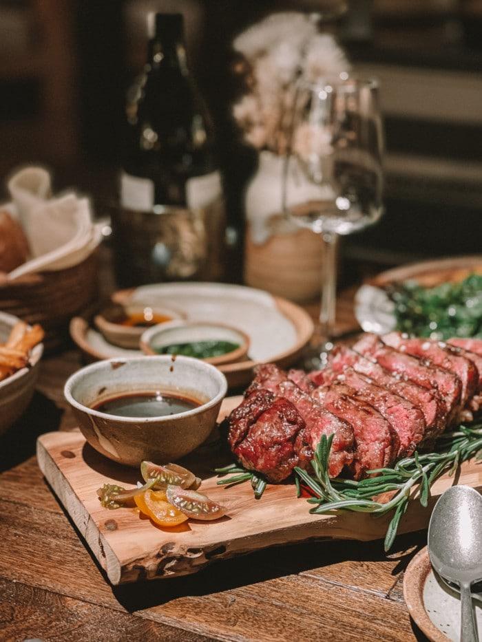 steak at SkyFire restaurant