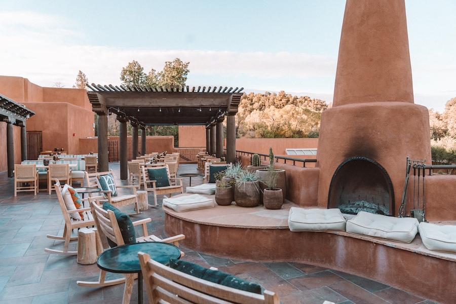 Rooftop outdoor dining at SkyFire restaurant