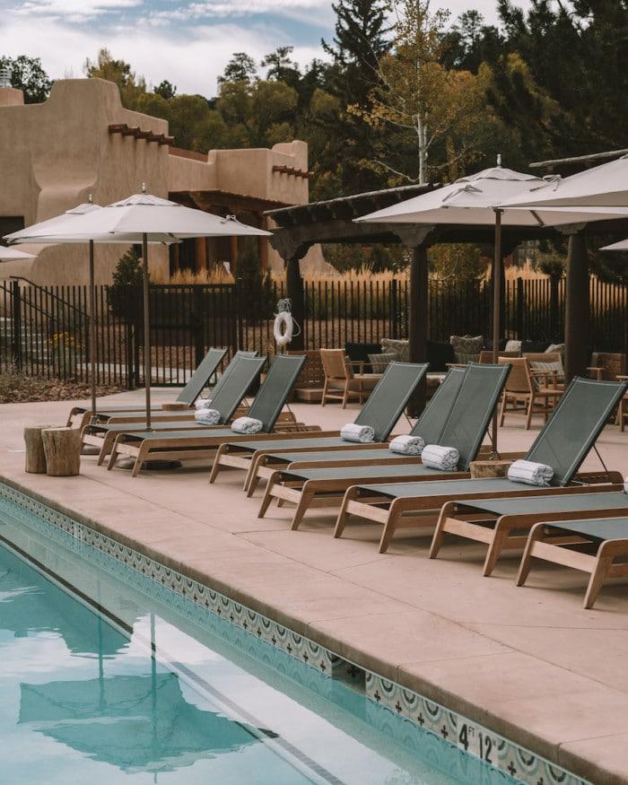 Swimming pool at Bishop's Lodge Resort