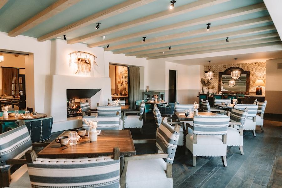 Interior of SkyFire restaurant at Bishop's Lodge Resort