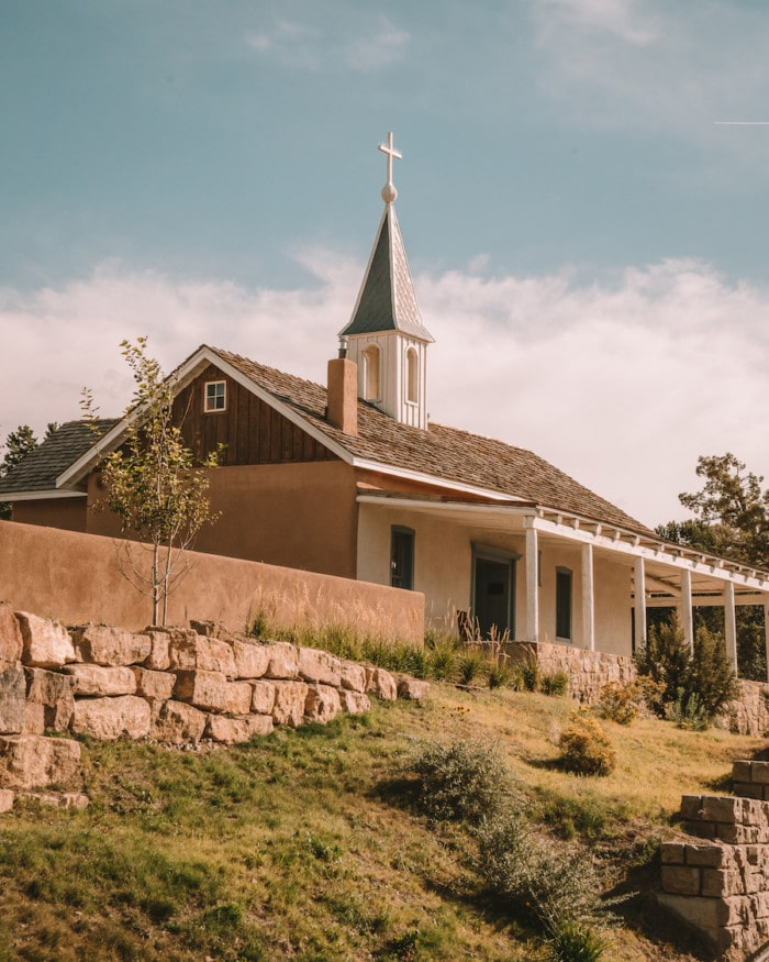 On-site chapel on the Bishop's Lodge Resort property