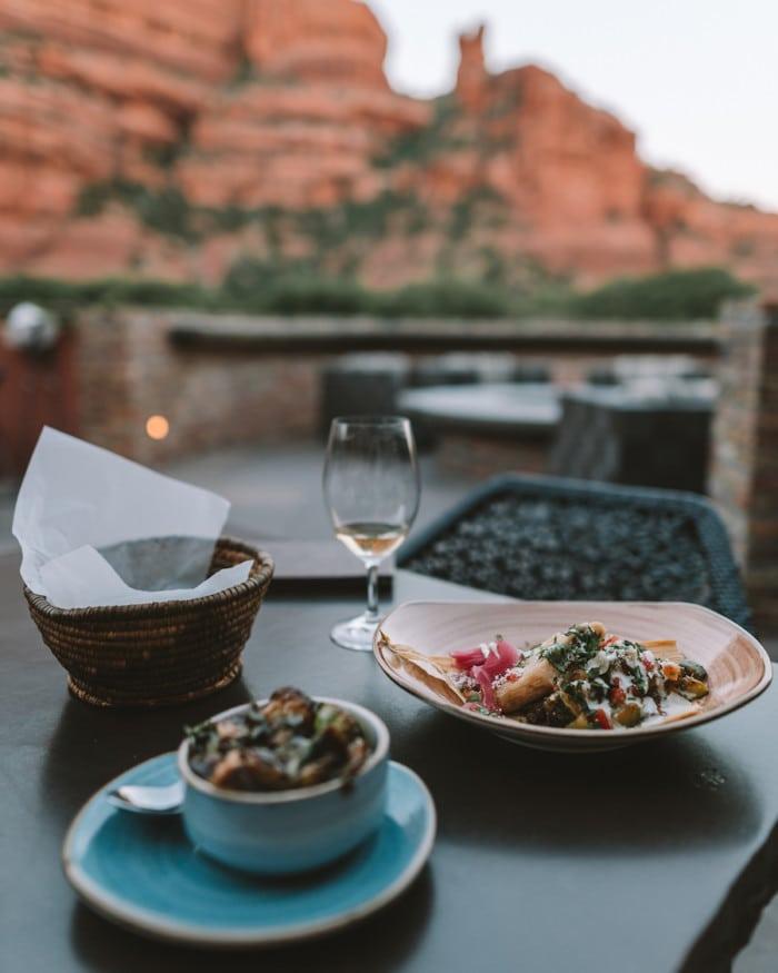 Dinner at Tii Gavo in Sedona