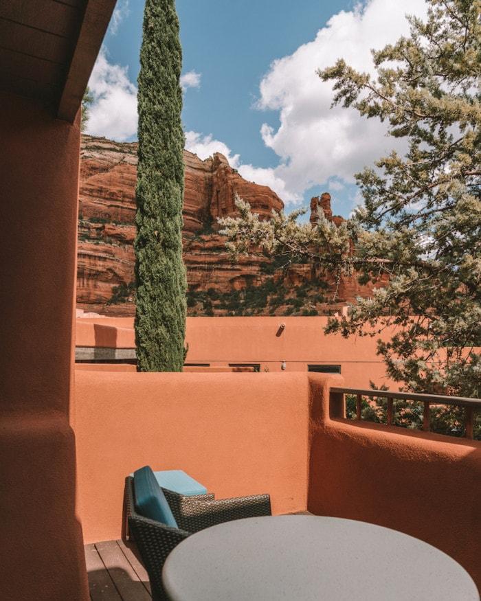 Guestroom patio at Enchantment Resort